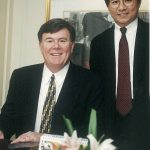 Hugo Shong with Pat in 1998